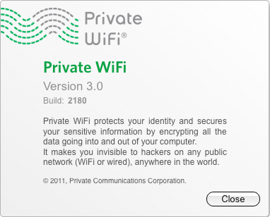 PRIVATE WiFi protects your identity and secures your sensitive information