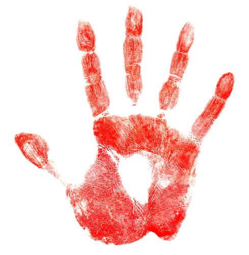 identity theft handprint
